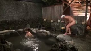 男湯に侵入してきた巨乳妻は中出しレイプされても文句は言えません